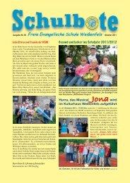 Schulbote September 1  - Freie Evangelische Schule Weißenfels