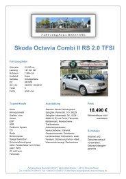 Skoda Octavia Combi II RS 2.0 TFSI - Fahrzeughausgruppe ...