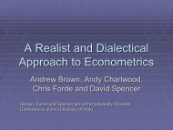 "Andrew Brown, ""A Realist and Dialectical Approach to Econometrics"""