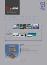 ORC turbogenerators for the exploitation of geothermal ... - Turboden