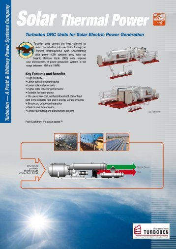 Solar Thermal Power - Turboden