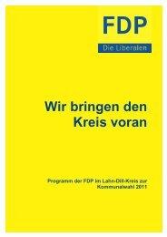 Wahlprogramm Kommunalwahl 2011 - FDP Lahn-Dill