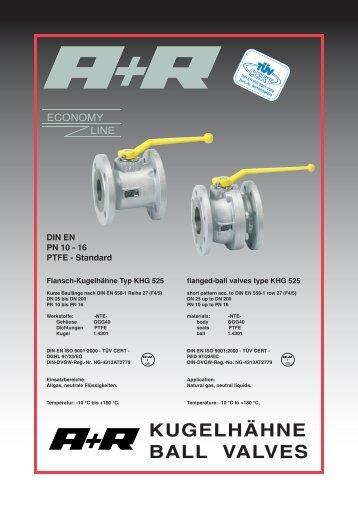 KHG 525 DIN EN PTFE std Vo