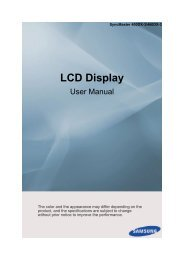 Samsung 460DX-3 User Manual - Touch Screens Inc.