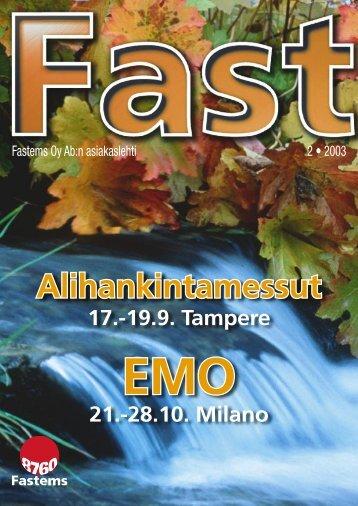 Alihankintamessut 17.–19.9.2003 Pirkkahalli, Tampere - Fastems