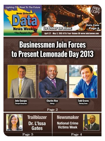 Businessmen Join Forces to Present Lemonade Day 2013