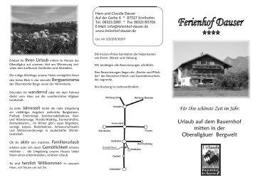 Prospekt zum Drucken - Ferienhof Dauser