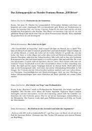 """Das Zeitungsprojekt zu Theodor Fontanes Roman """"Effi Briest"""""""