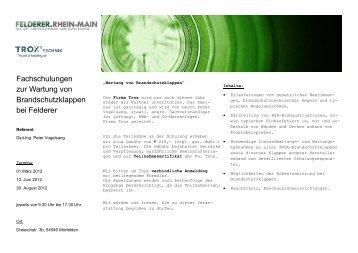 Einladung Schulungen 2012.pub (Schreibgeschützt) - Felderer