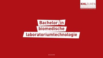 Bachelor in biomedische laboratoriumtechnologie - Katholieke ...