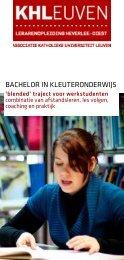 baCHeLor in KLeuteronDerwiJS - Katholieke Hogeschool Leuven