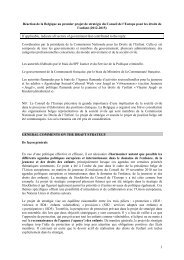 Position belge Conseil europe FR - The National Commission on ...