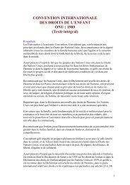 Convention internationale du Droit de l'Enfant