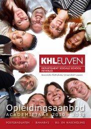 Opleidingsaanbod - Katholieke Hogeschool Leuven