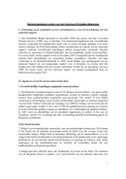 Belgisch nationaal rapport voor het Universeel Periodiek Onderzoek