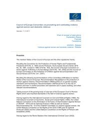 Council of Europe Convention on preventing and combating ...