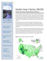 population change1 - Wyoming Community and Regional ...