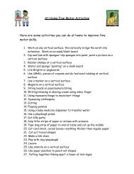At-Home Fine Motor Activities Here are some activities you can do at ...