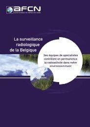 La surveillance radiologique de la Belgique