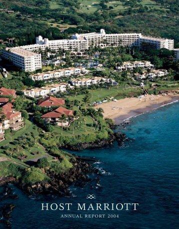 Host Marriott 2004 Annual Report - Host Hotels & Resorts, Inc
