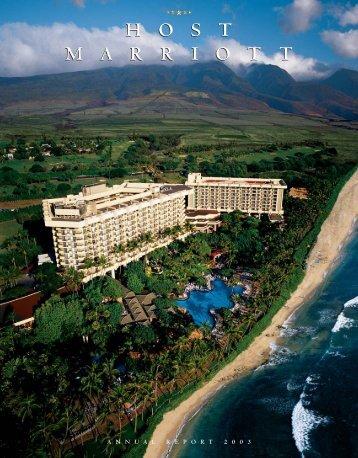 2003 Annual Report - Host Hotels & Resorts, Inc