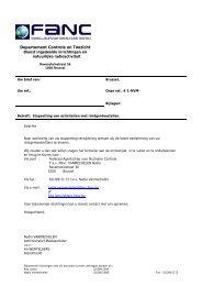Departement Controle en Toezicht - Federaal Agentschap voor ...