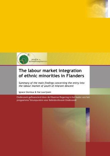 The labour market integration of ethnic minorities in Flanders