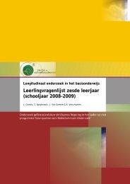Longitudinaal onderzoek in het basisonderwijs. Leerlingvragenlijst ...