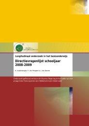 Longitudinaal onderzoek in het basisonderwijs. Directievragenlijst