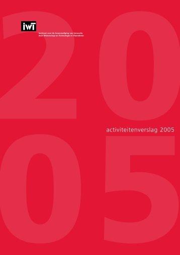 IWT jaarverslag 2005