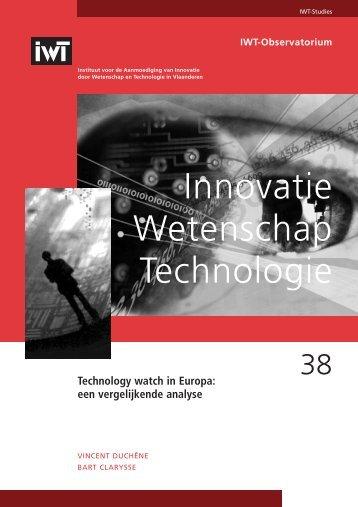38 Technology watch in Europa : een vergelijkende analyse - IWT