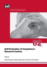 Self-Evaluation of Competence Research Centres - EAS