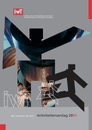 IWT jaarverslag 2003