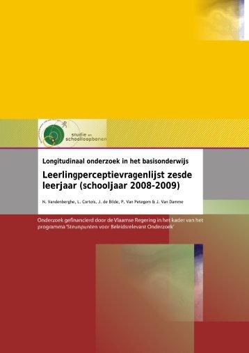 Vandenberghe, N., Cortois, L., de Bilde, J., Van Petegem, P. & Van ...