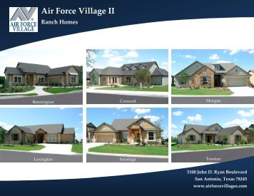 View Ranch Home Floor Plans - Air Force Village