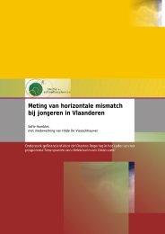 Meting van horizontale mismatch bij jongeren in Vlaanderen SSL ...