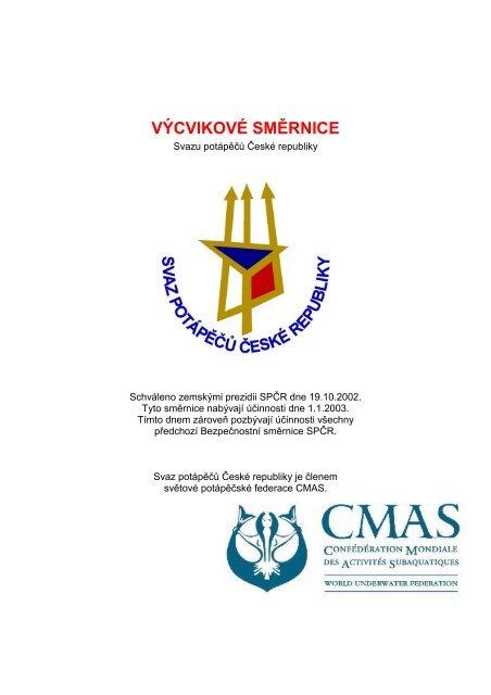 Výcvikové směrnice SPČR 2003 (PDF) - Strany potápěčské