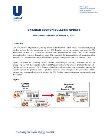 DataBar Coupon Bulletin Update.pdf - Unified Grocers