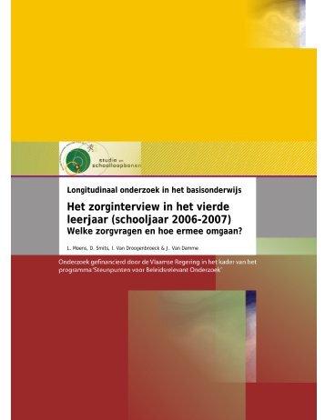 Moens, L., Smits, D., Van Droogenbroeck, I. & Van Damme, J. (2009)