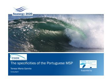 The specifities of the Portuguese MSP - Seanergy 2020