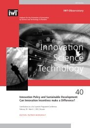 40 Innovation Policy and Sustainable Development - IWT