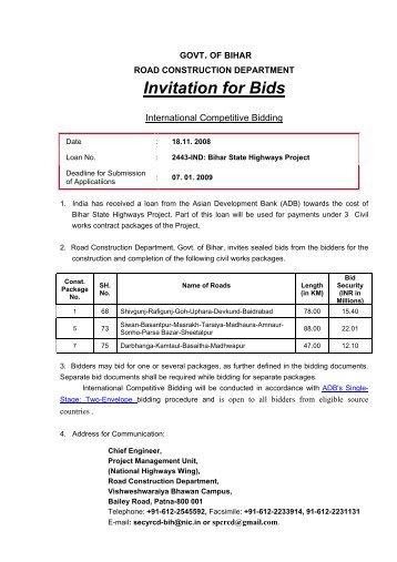 Invitation to bid pavilion construction invitation for bids road construction dept stopboris Images