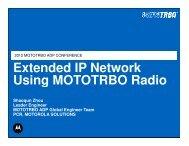 Extended IP Network Using MOTOTRBO Radio Extended IP Network Using ...