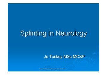Splinting in neurology - Tuckey - acpin