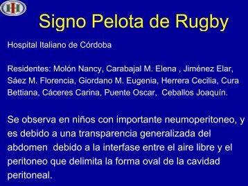 Signo Pelota de Rugby - Congreso SORDIC