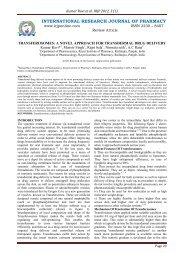 transferosomes: a novel approach for transdermal drug delivery