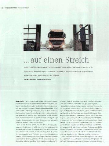... auf einen Streich - Fehrenkötter Transport und Logistik GmbH
