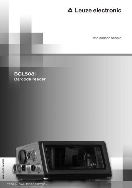 Technical Description BCL 508 - Leuze electronic, Inc