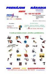 Aktuálny prehľad a cenník náradia - PEMO instal sro