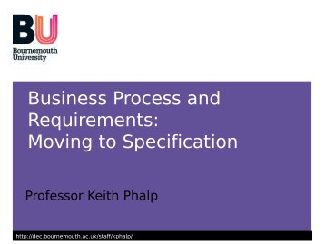 Process Models to Specification